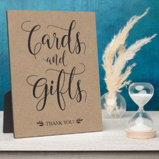 Cards and Gifts Rustic Wedding Sign Plaque