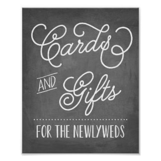 Cards and Gifts Sign | Wedding Decor Poster