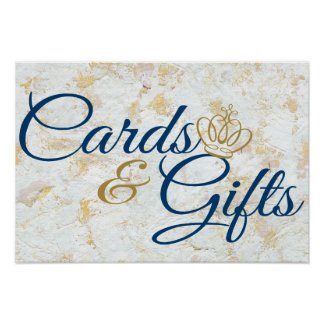 'Cards & Gifts' Royal Prince Event Signage Poster