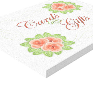 Cards & Gifts Wedding Sign Canvas Print