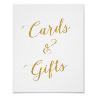 Cards & Gifts - Wedding Sign - Poster