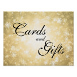 Cards & Gifts Wedding Sign Winter Wonderland Gold