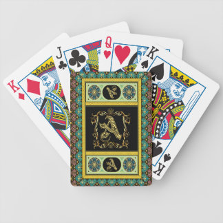 Cards Monogram A One of a kind View notes please Bicycle Poker Cards