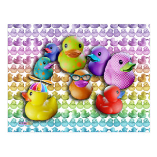 CARDS Rubber Duckies Pop Art Postcards
