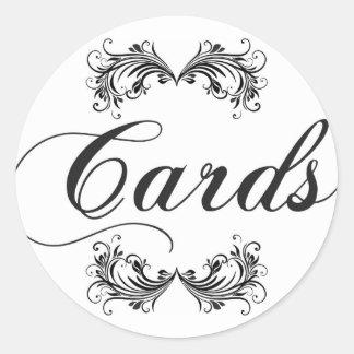 Cards Sign Round Sticker