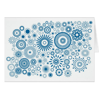 Cards Spiral ❉ Blue White & US Postage