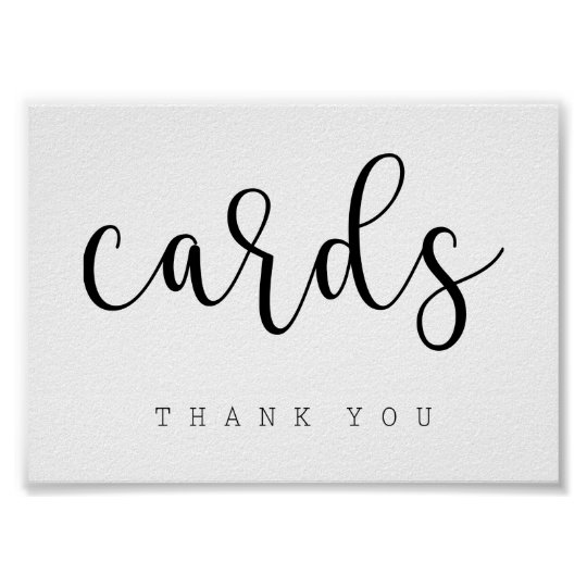 Cards Table Sign | Chic Typography