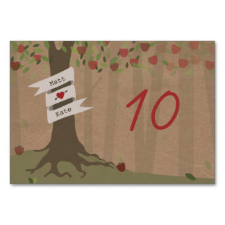 Cardstock Inspired Apple Orchard Wedding Table Cards