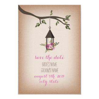 Cardstock Inspired Floral Lantern Save The Date 9 Cm X 13 Cm Invitation Card