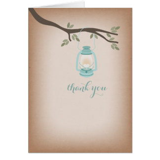 Cardstock Inspired Light Blue Lantern Thank You Greeting Cards
