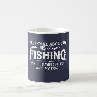 Care About Fishing and My Dog Coffee Mug
