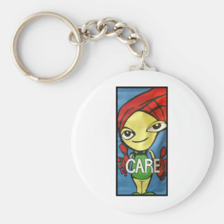 Care Banner Basic Round Button Key Ring