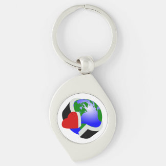 Care for earth Silver-Colored swirl key ring