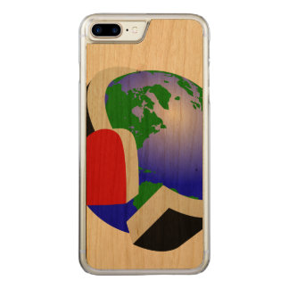 Care for the planet carved iPhone 8 plus/7 plus case