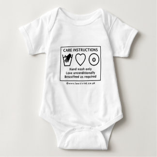 Care instructions baby bodysuit