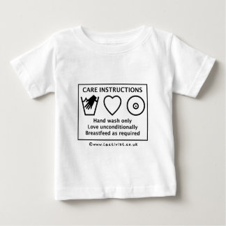 Care instructions baby T-Shirt
