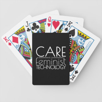 Care is a Feminist Technology Bicycle Playing Cards