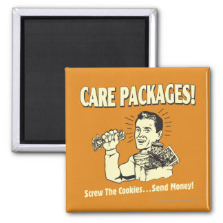 Care Packages: Screw Cookies Send $ Square Magnet
