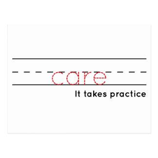 care | Practice Postcard