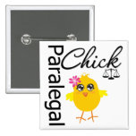 Career Chick Paralegal 15 Cm Square Badge