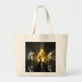 Career Development with a Business Team Large Tote Bag