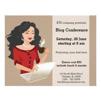 Career woman black hair 21.5 cm x 28 cm flyer