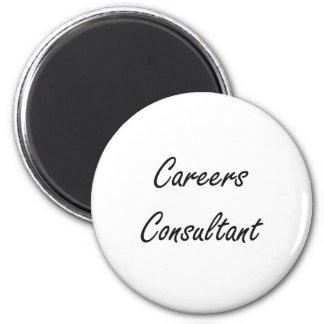 Careers Consultant Artistic Job Design 2 Inch Round Magnet