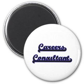 Careers Consultant Classic Job Design 6 Cm Round Magnet