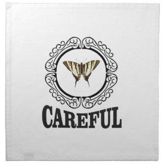 careful circle napkin