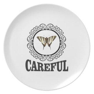 careful circle plate