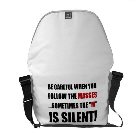 Careful Follow Masses M Is Silent Messenger Bags