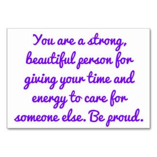 Caregiver Affirmation Card