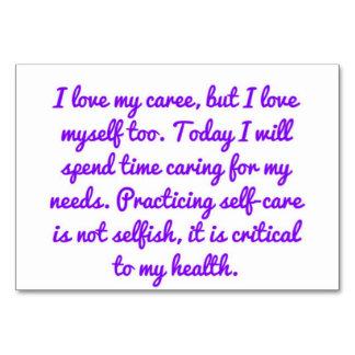 Caregiver Affirmations - health Card