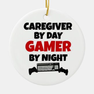 Caregiver by Day Gamer by Night Ornaments
