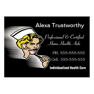 Caregiver Professional Large Business Card Template