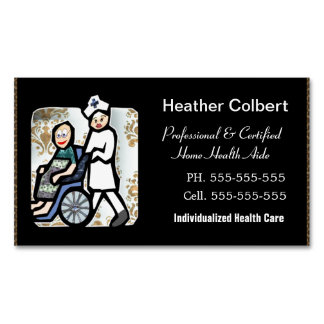 Caregiver Professional Magnetic Business Card
