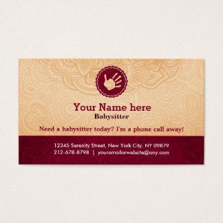 Caregiver slogans business card