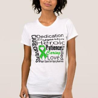 Caregivers Collage Spinal Cord Injury Tee Shirt