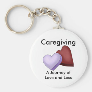 Caregiving, a Journey of Love and Loss Keychain