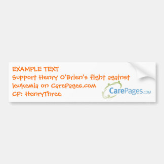 CarePages.com Custom Bumper Sticker - Customized