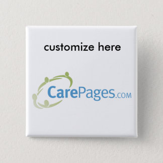 CarePages.com Custom Logo Magnet 15 Cm Square Badge