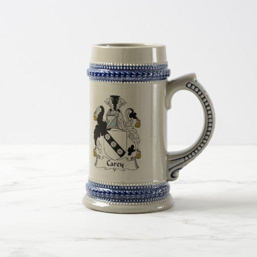 Carey Coat of Arms Stein - Family Crest Mug