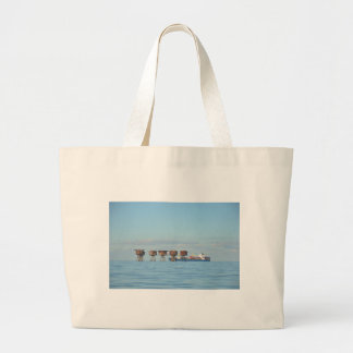 Cargo Ship And Forts Tote Bag