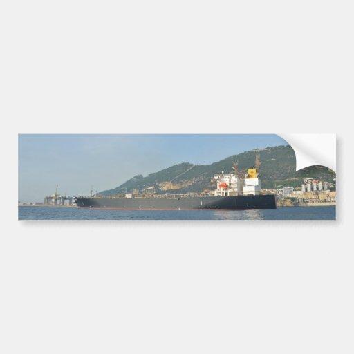 Cargo Ship Entering Gibraltar Bumper Stickers