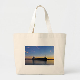 Cargo ship leaving the Swale Canvas Bags