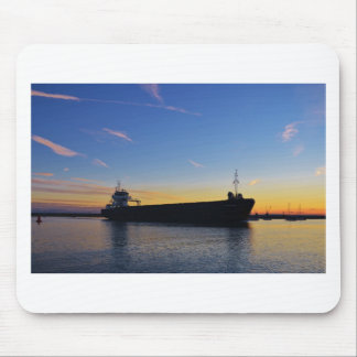 Cargo ship leaving the Swale Mouse Pad