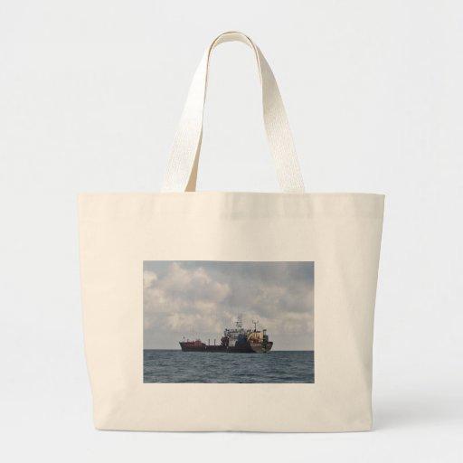 Cargo Ship Mikhail Kuznetsov Canvas Bags