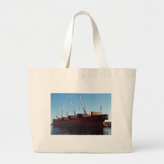 Cargo Ship Stove Trader taking on cargo. Tote Bags