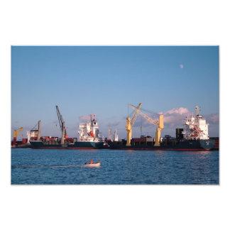 Cargo ships photograph