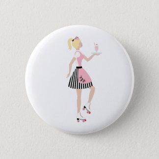 Carhop Girl 6 Cm Round Badge